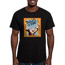 Balls O'Fire! Men's Fitted T-Shirt (dark)