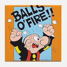 Balls O'Fire! Tile Coaster