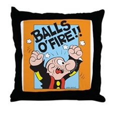 Balls O'Fire! Throw Pillow