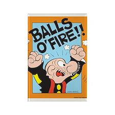 Balls O'Fire! Rectangle Magnet