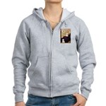 Whistlers Mom/2 Westies Women's Zip Hoodie