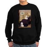 Whistlers Mom/2 Westies Sweatshirt (dark)