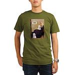 Whistlers Mom/2 Westies Organic Men's T-Shirt (dar