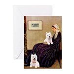 Whistlers Mom/2 Westies Greeting Cards (Pk of 10)