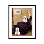 Whistlers Mom/2 Westies Framed Panel Print