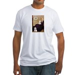 Whistlers Mom/2 Westies Fitted T-Shirt