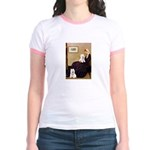 Whistlers Mom/2 Westies Jr. Ringer T-Shirt