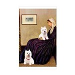 Whistlers Mom/2 Westies Sticker (Rectangle 50 pk)