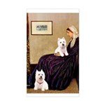Whistlers Mom/2 Westies Sticker (Rectangle)