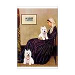 Whistlers Mom/2 Westies Mini Poster Print