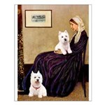 Whistlers Mom/2 Westies Small Poster