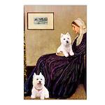 Whistlers Mom/2 Westies Postcards (Package of 8)
