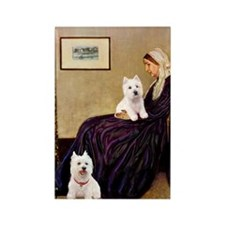 Whistlers Mom/2 Westies Rectangle Magnet