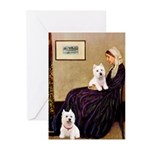Whistlers Mom/2 Westies Greeting Cards (Pk of 20)