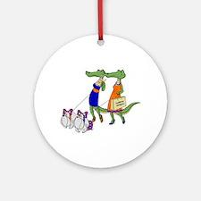 Gator Girls w/ Dawgs Ornament (Round)