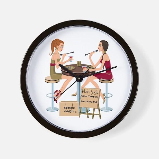 Seminole Sushi Girls Wall Clock