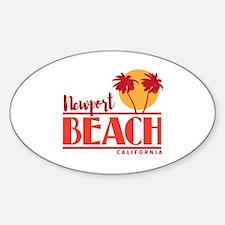 Unique Newport beach Sticker (Oval)