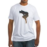 breakdancer Fitted T-Shirt