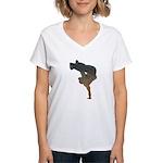 breakdancer Women's V-Neck T-Shirt