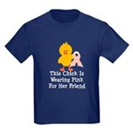 Pink Ribbon Chick For Friend Kids Dark T-Shirt