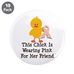 Pink Ribbon Chick For Friend 3.5