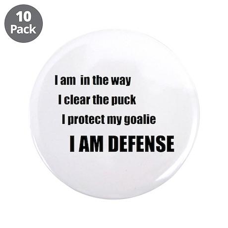 "Defense 3.5"" Button (10 pack)"