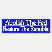 Funny Political Anti Fed - Car Car Sticker