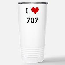 I Love 707 Stainless Steel Travel Mug