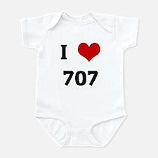 I Love 707 Infant Bodysuit