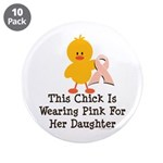 Pink Ribbon Chick For Daughter 3.5