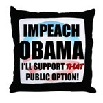 The Public Option Throw Pillow