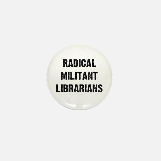 Unique Radical militant librarian Mini Button