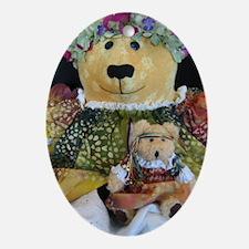 Flower Child Bear Oval Ornament