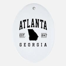 Unique Atlanta Oval Ornament