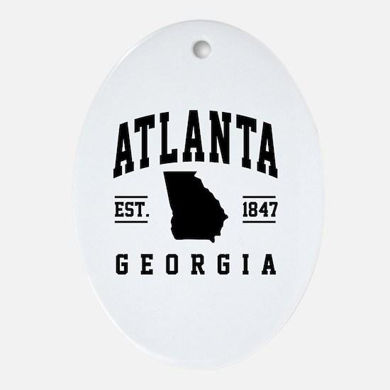 Cute Atlanta Oval Ornament
