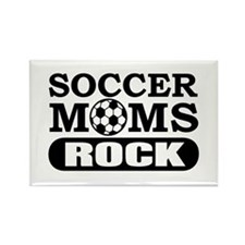 Soccer Moms Rock Rectangle Magnet