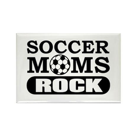 Soccer Moms Rock Rectangle Magnet