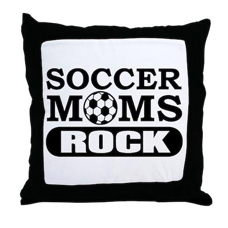Soccer Moms Rock Throw Pillow