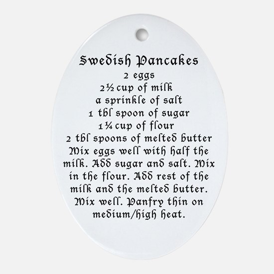 Swedish pancakes on Oval Ornament