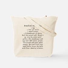 Swedish pancakes and meatballs Tote Bag