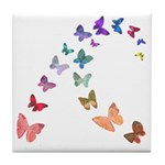 Soft Butterflies Tile Coaster