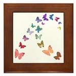 Soft Butterflies Framed Tile
