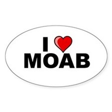 I Love Moab Oval Decal