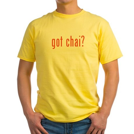 got chai? Yellow T-Shirt