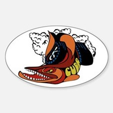 Vintage Cuda Fish Oval Decal