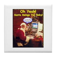 Santa Swings Tile Coaster