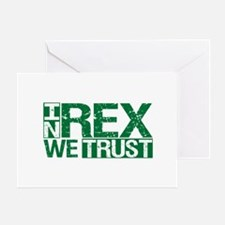 In Rex We Trust Greeting Card