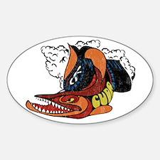 Vintage Cuda Fish Oval Decal