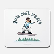Light Snowboarding Mousepad