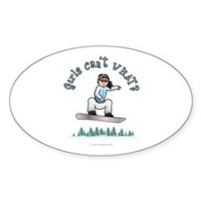 Light Snowboarding Oval Decal